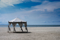 Wedding hut at the beach Royalty Free Stock Images