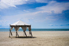 Wedding hut on the beach Royalty Free Stock Image