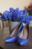 Wedding hyacinth bouquet Royalty Free Stock Photos