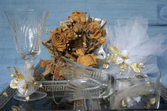 Wedding? I do not think so. What happened to the bride's bouquet?Wedding accessories bride stock photography