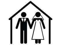 Wedding icon Royalty Free Stock Image