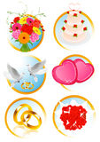 Wedding icon collection Stock Images