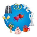 Wedding icon Stock Photo