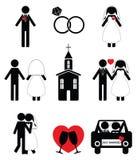 Wedding  icon set Stock Images