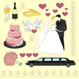 Wedding icon set Royalty Free Stock Photos