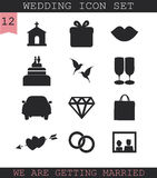 Wedding icon set. Stock Photo