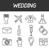 Wedding icon set Stock Photos
