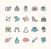 Wedding Icon Set. Vector Stock Images