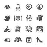 Wedding icon set 3, vector eps10 Stock Image