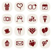 Wedding icon set Royalty Free Stock Photo