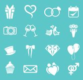 Wedding icon set Stock Photo