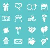 Wedding icon set Stock Photo