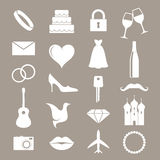 Wedding. Icon set Stock Image