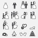 Wedding icon Stock Photography