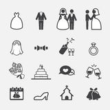 Wedding icon Royalty Free Stock Photography