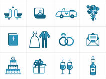 Wedding icons Stock Photography