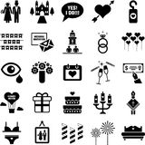 Wedding icons. This is a collection of Wedding icons Stock Photos
