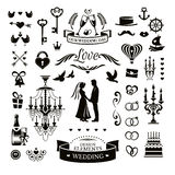 Wedding icons and elements Stock Image