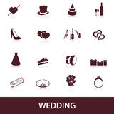 Wedding icons eps10 Royalty Free Stock Photo