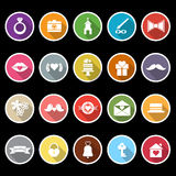 Wedding icons with long shadow Royalty Free Stock Image