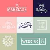 Wedding icons Stock Photos
