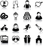 Wedding icons Royalty Free Stock Photography