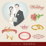 Wedding icons set Stock Image