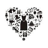 Wedding icons vector illustration