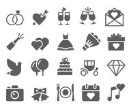 Wedding icons set Royalty Free Stock Images