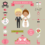 Wedding icons set Royalty Free Stock Photos