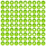 100 wedding icons set green. 100 wedding icons set in green circle isolated on white vectr illustration Royalty Free Illustration