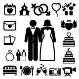 Wedding icons set. Stock Photo