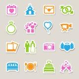Wedding icons set. Stock Photography