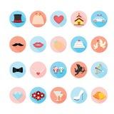 Wedding icons set. Royalty Free Stock Photography