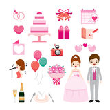 Wedding Icons Set Royalty Free Stock Photos