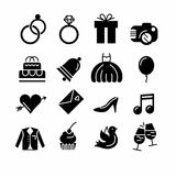 Wedding icons set Stock Image