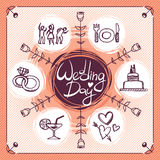 Wedding icons Royalty Free Stock Image