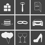 Wedding Icons. Set of icons on a theme Wedding Royalty Free Stock Photos