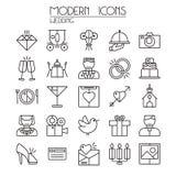 Wedding icons set Stock Photography
