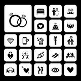 Wedding icons set. Vector icons set for wedding Stock Photography