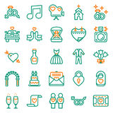 Wedding icons set on white background. Created For Mobile, Web, Decor, Print Products, Applications. Icon . Vector illustration Vector Illustration