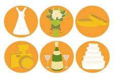 Wedding icons Royalty Free Stock Photos