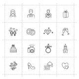 Wedding icons Royalty Free Stock Images