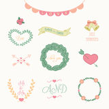 Wedding Icons Vector Illustration Stock Photography