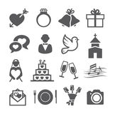 Wedding icons. On white background Royalty Free Stock Photos