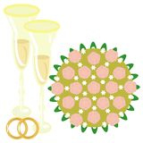 Wedding illustration Royalty Free Stock Image
