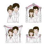 Wedding Illustration. Wedding illustrator and Vector Cartoon Royalty Free Stock Images