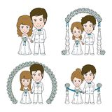 Wedding Illustration. Wedding illustrator and Vector Cartoon Royalty Free Stock Photo