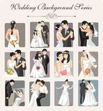 Wedding Illustration Series. A set of 12 wedding illustrations Royalty Free Stock Photo
