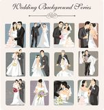 Wedding Illustration Series. A set of 12 wedding illustrations Stock Image